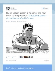 Twitter : marco949: Quinn Colson sketch in honor ...