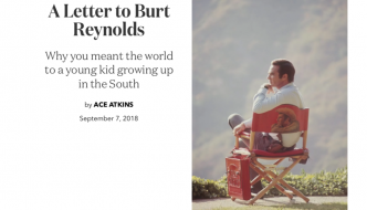 A Letter to Burt Reynolds